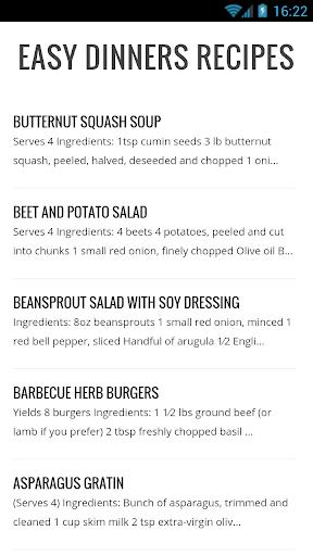 Easy Dinners Ideas