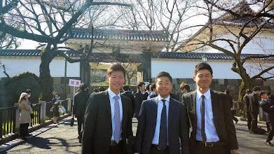 Photo: 卒業式③ 3月24日 竹内副将、大塚主将、大橋