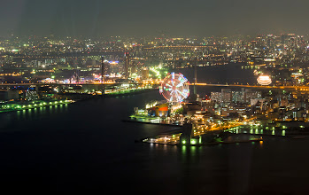 Photo: Tempozan Ferris Wheel from the Cosomo Tower