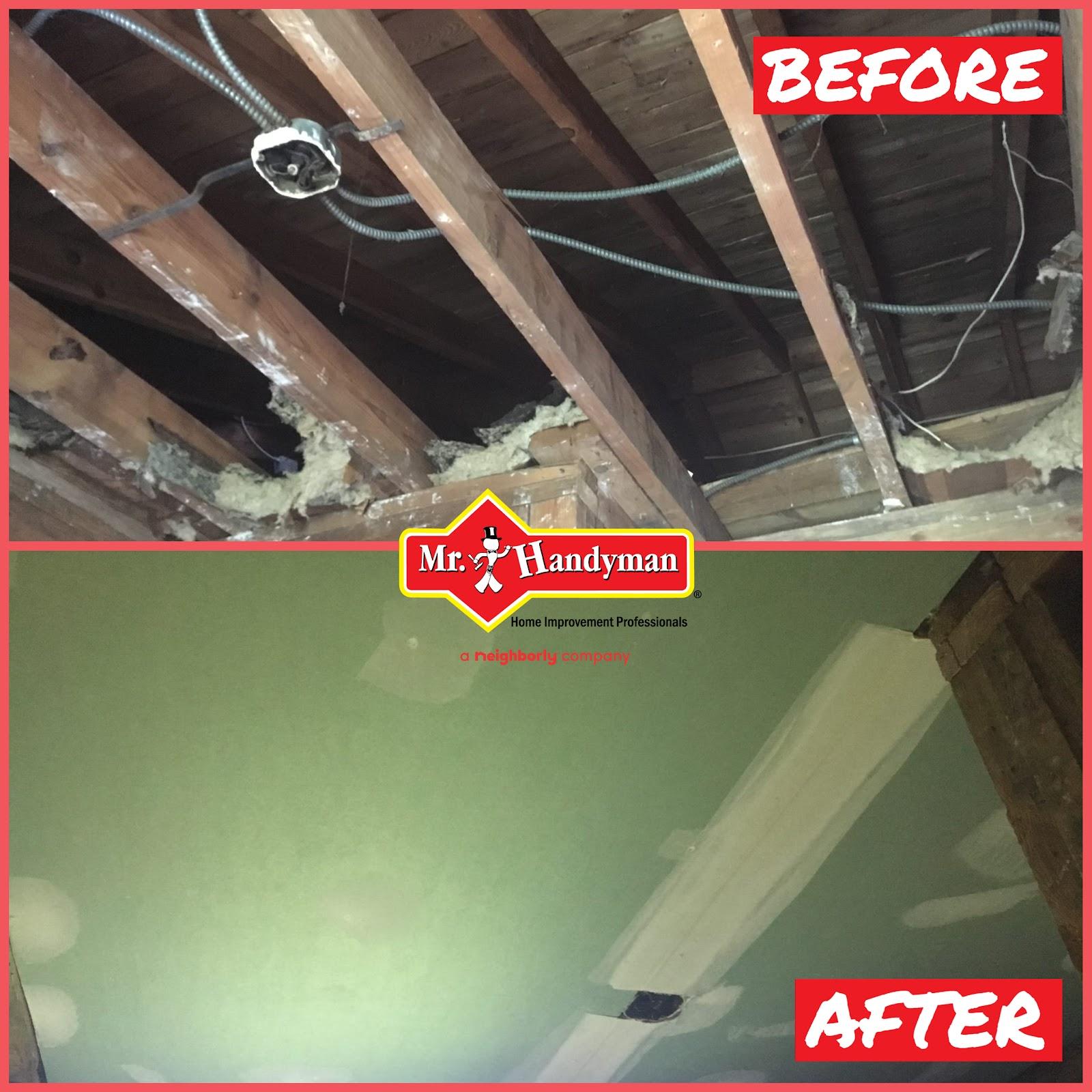 Drywall repair, Fairfax Station VA.