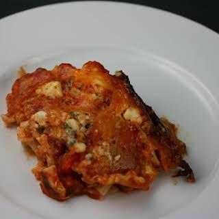 CrockPot Buffalo Chicken Lasagna.