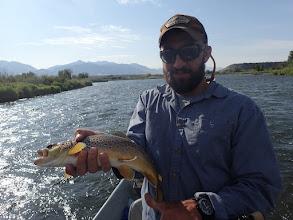 Photo: Eric Lundgren wth a Madison River brown