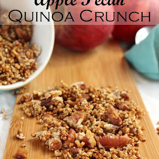 Apple Pecan Quinoa Crunch