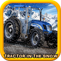 Tractor Drive: Wood Cargo Snowy Farm Roads icon