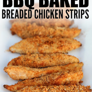 Easy BBQ Baked Breaded Chicken.