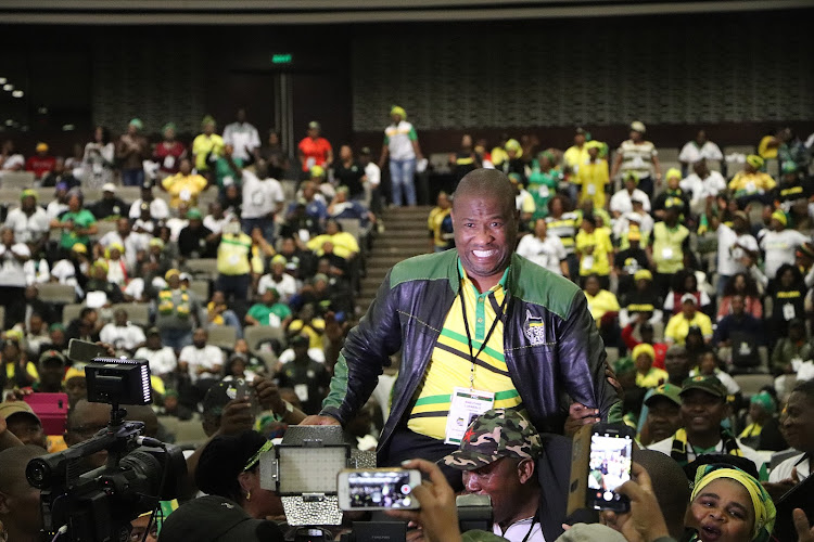 Oscar Mabuyane at the ICC after he was elected chairperson of the ANC in the Eastern Cape.