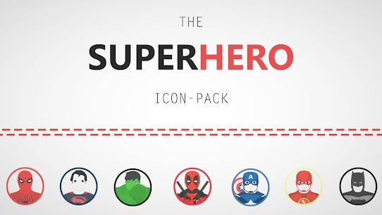 The Superhero-Icon Pack/Theme 1.5 Latest MOD Updated 1