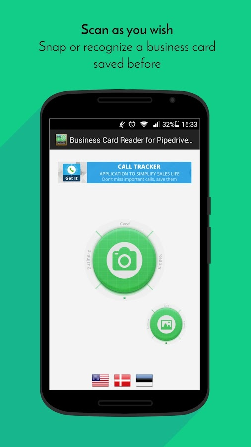 Free Business Card Reader for Pipedrive CRM- screenshot