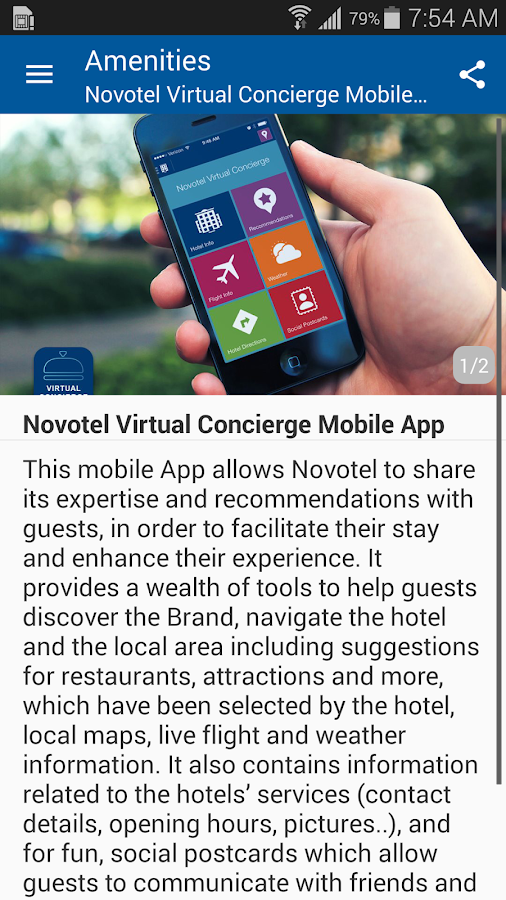 Novotel Virtual Concierge- screenshot