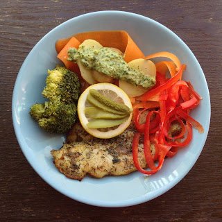 Grilled Cat Fish with steamed Potatos and Brocolli