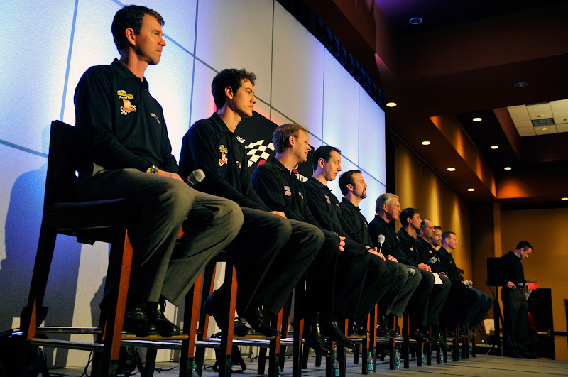 Photo: 23 January 2012, Concord, North Carolina, USAJoe Gibbs Racing Media Tour press conference(c)2012, Nigel KinradeAutostock