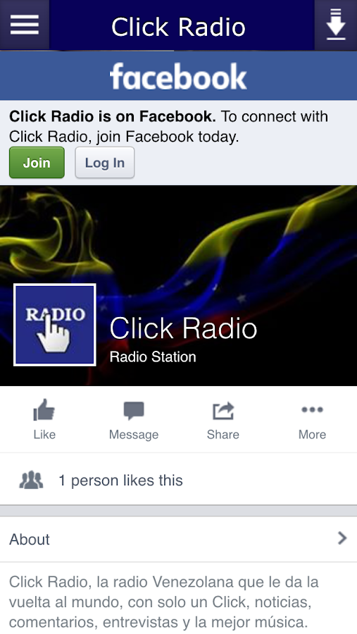 Click Radio- screenshot