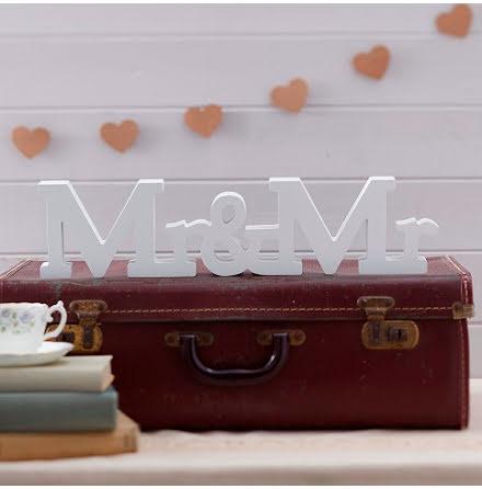 Mr & Mr träbokstäver A Vintage Affair