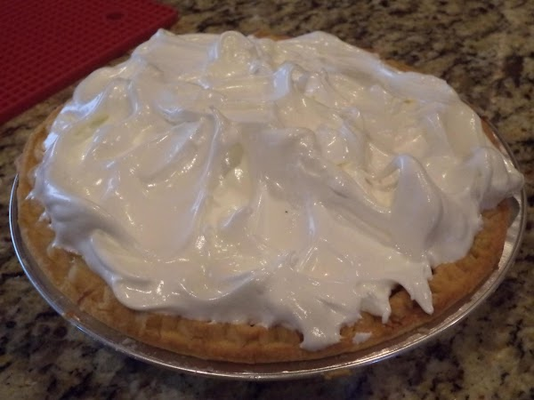 "Spread the meringue onto the pie being sure to ""seal"" the edges by having..."