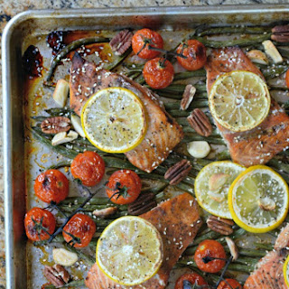 One Sheet Pan Teriyaki Salmon & Green Beans