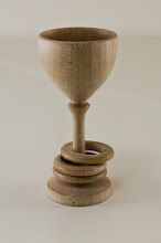 "Photo: Bob Anderson 1 3/4"" x 3 3/4"" ringed chalice [red oak]"