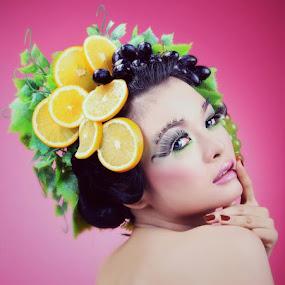 Fresh Fruit by Ikhsan Effendi - People Portraits of Women