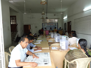 Photo: Counting Agents at the State President Election counting