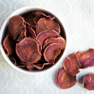 Baked Purple Sweet Potato Chips