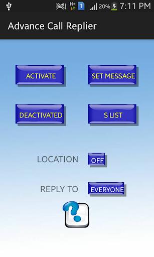 Advance Call Replier