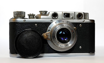 Photo: A 1956 Zorki 1 with Industar 22 collapsible 50mm lens that actually has it's lens cap, serious hen's teeth dept!