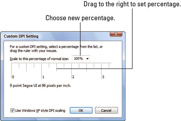 Custom DPI Setting in Windows
