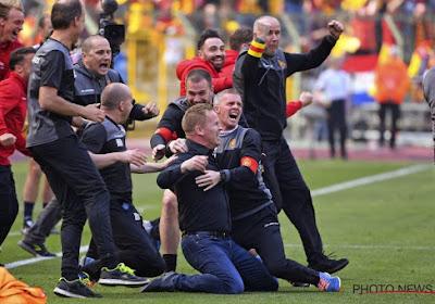 De ontlading was bijzonder groot bij Seth De Witte, Nikola Storm en de rest van KV Mechelen