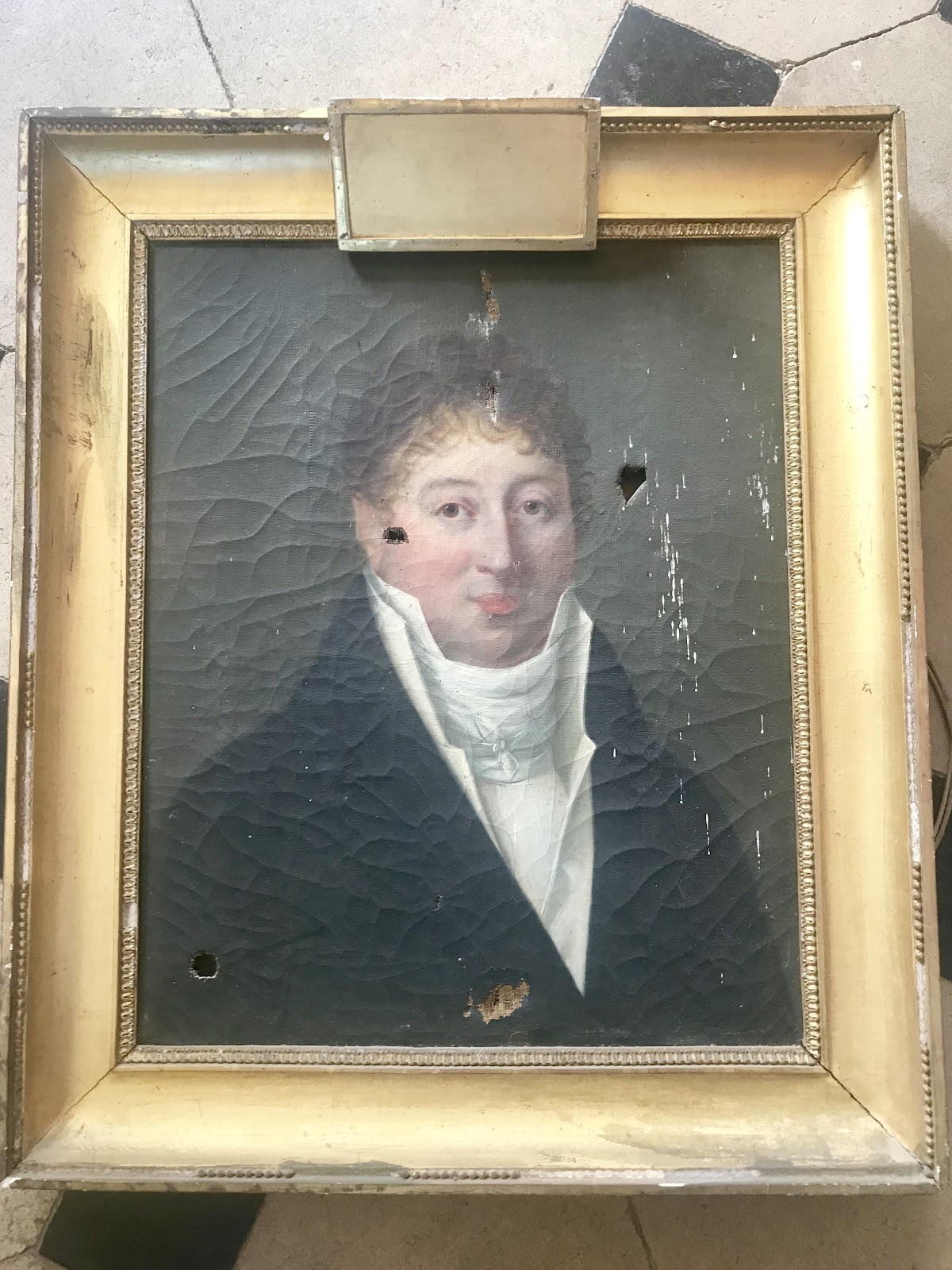 Portrait du dernier marquis d'Aligre à restaurer