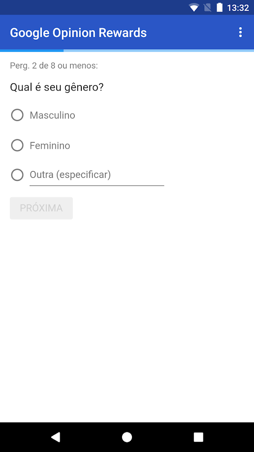 Google Opinion Rewards: captura de tela