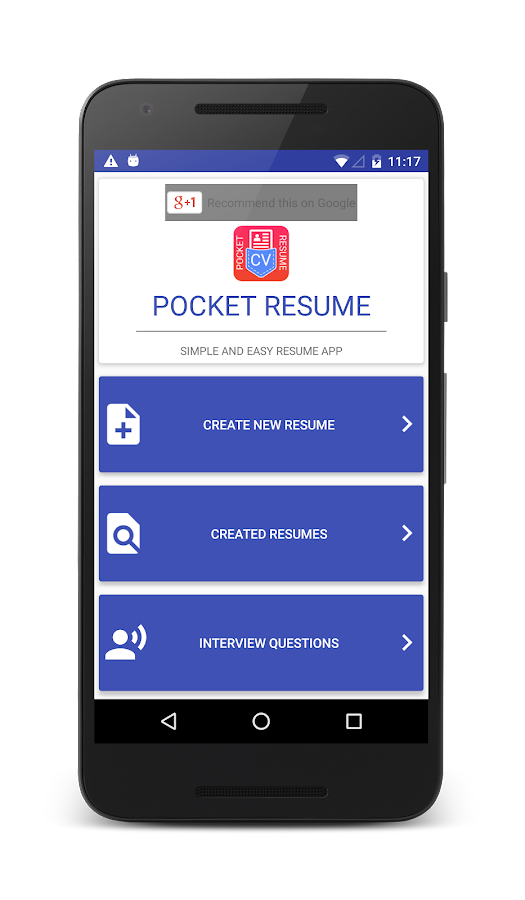 pocket resume android apps on google play
