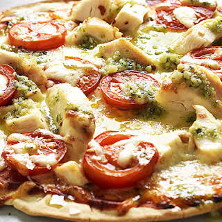 Spicy Chicken Pizza with Pesto.