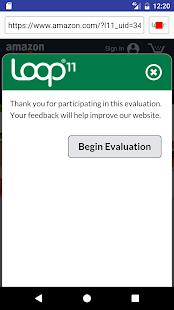 Loop11 User Testing - náhled