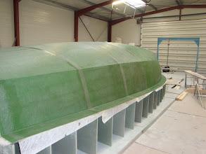 Photo: finalisation du moule de coque - 16.1.2009