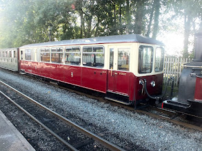 Photo: 017 Ffestiniog first class observation saloon number 111 spotted on one of the shuttle trains .