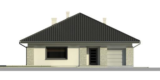 Dom przy Słonecznej 2 - Elewacja przednia