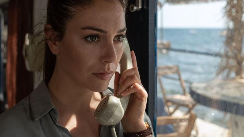 La actriz estuvo en Almería para rodar escenas de su nueva serie.