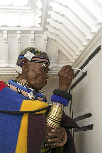 Ndebele art legend Esther Mahlangu appeals to women to use their hands to make a living. /Siphosihle Mkhwanazi