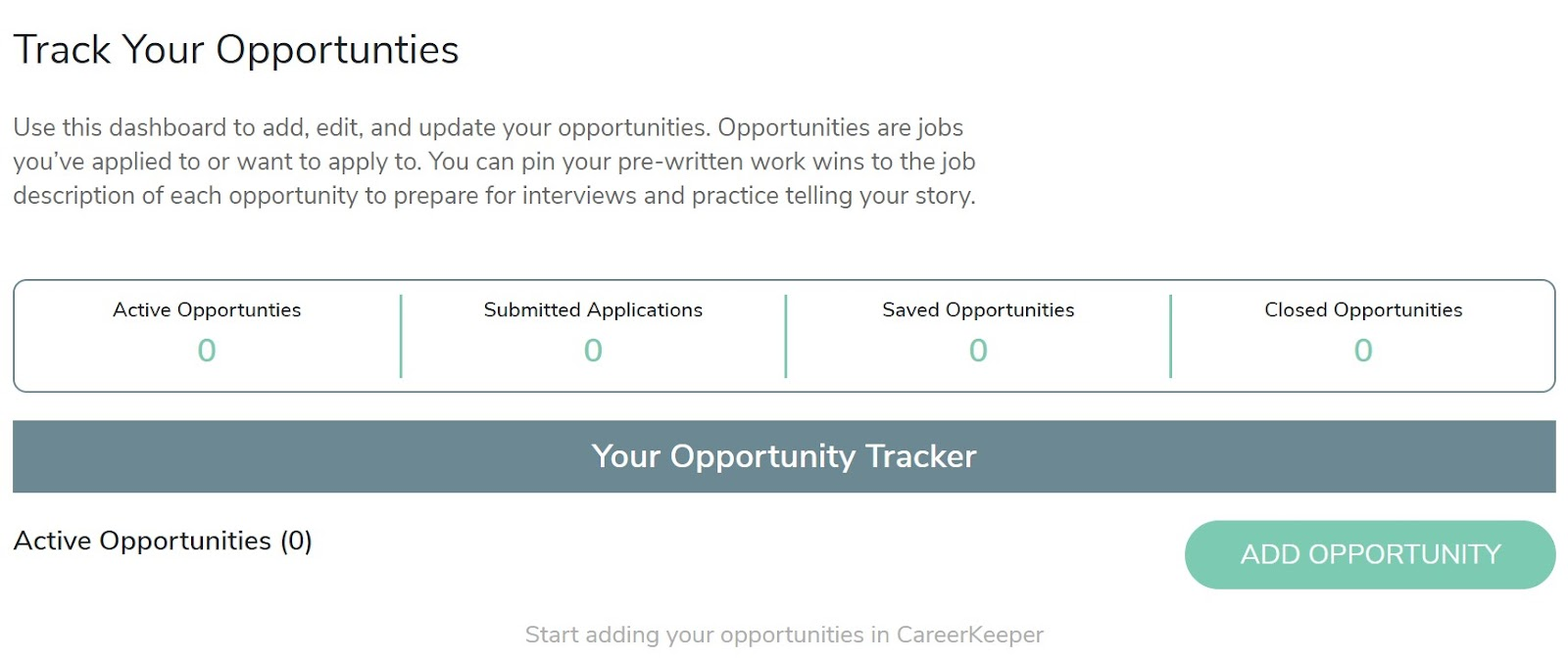 Track Your Job Opportunities
