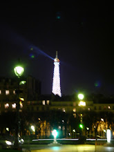 Photo: Taking the Metro down to Les Invalides, where this is the view of the Eiffel Tower when the flashing lights are turned on for 10 minutes on the hour. The system was installed for the millennium celebration, with the intent to be on for one year. The concept was popular, but the system not designed for long-term use, so it was off for a year or two during rewiring, then recently turned back on.