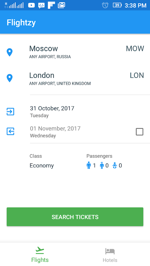 Flightzy - cheap flights & hotels search- screenshot