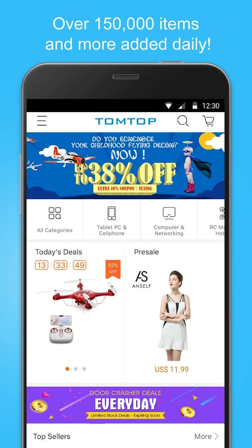 TOMTOP - Shop Wholesale Prices- screenshot