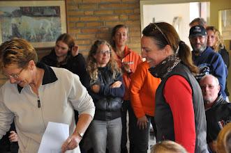 Photo: Prijsuitreiking, Karin 3de op 60 km