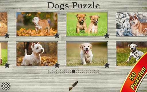 Dogs Jigsaw Puzzles Game Kids