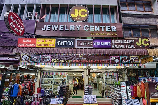 Торговый центр продажи серебряных ювелирных украшений в Тайланде