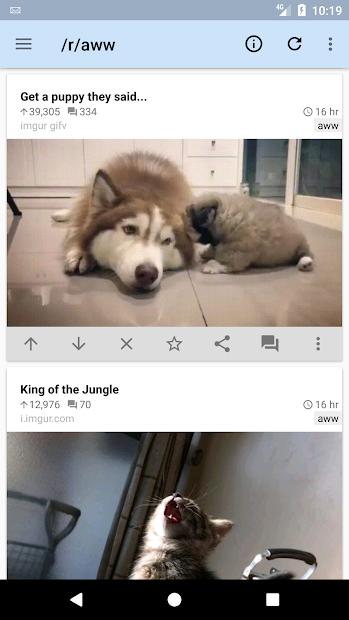 reddit is fun (unofficial) screenshot 2