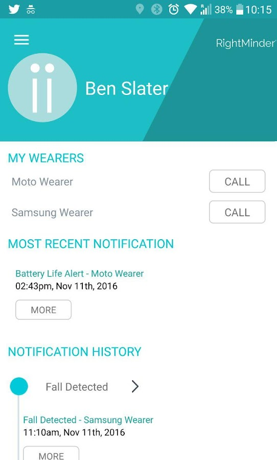 RightMinder® for Android Wear- screenshot