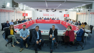 Ejecutiva Federal del PSOE, reunida ayer.