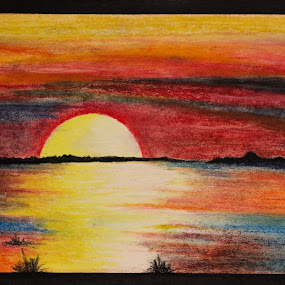 Landscape  by Shahnila Ejaz - Drawing All Drawing