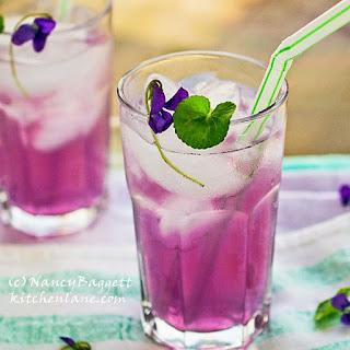 Homemade Violet Lemonade.