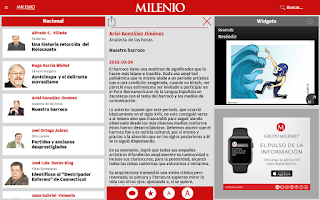 Screenshot of Milenio